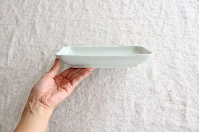 木瓜角皿 土灰 長角 磁器 東屋 画像3
