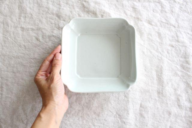 木瓜角皿 土灰 正角 磁器 東屋 画像5