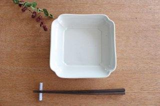 木瓜角皿 土灰 正角 磁器 東屋商品画像