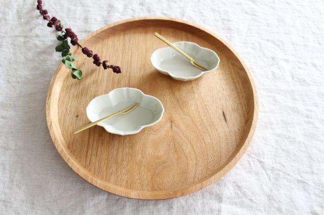 豆皿 土灰 木瓜 磁器 東屋 画像5