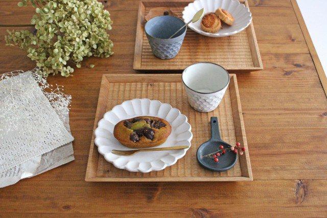 7寸角皿 オニグルミ Semi-Aco 加賀雅之
