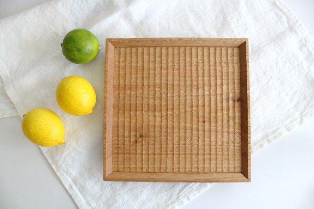 7寸角皿 オニグルミ Semi-Aco 加賀雅之 画像2