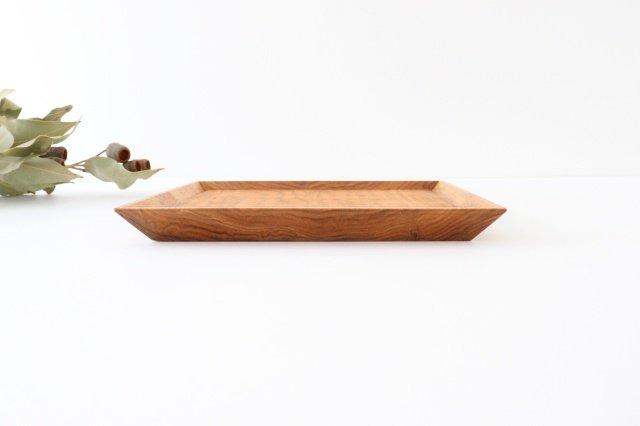 7寸角皿 オニグルミ Semi-Aco 加賀雅之 画像6