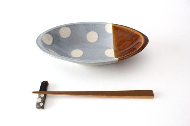 カレー皿 水玉 水色 陶器 えのきだ窯 榎田若葉 画像5
