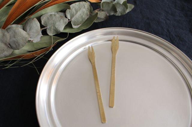 二股フォーク 真鍮 小野銅工店 画像2