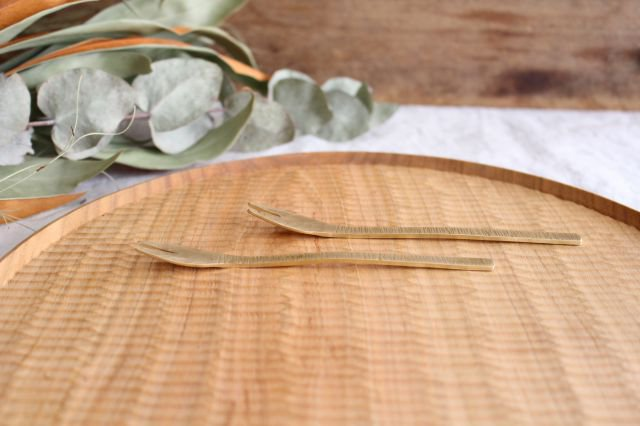 二股フォーク 真鍮 小野銅工店 画像5