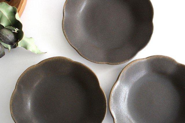錆釉 輪花皿 小 陶器 古谷製陶所 画像4