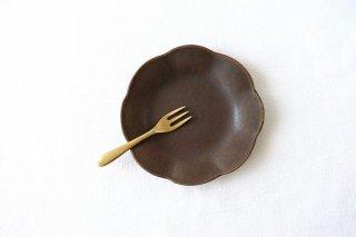 錆釉 輪花皿 小 陶器 古谷製陶所商品画像