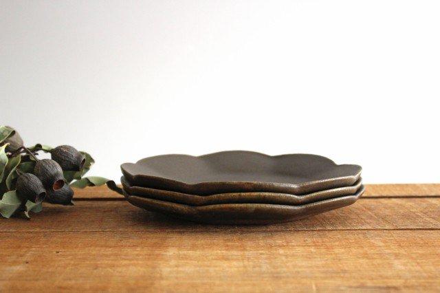 錆釉 輪花皿 中 陶器 古谷製陶所 画像2