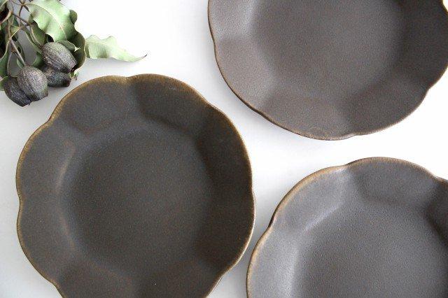錆釉 輪花皿 中 陶器 古谷製陶所 画像4