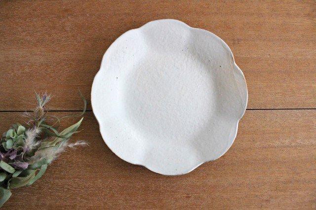 鉄散 輪花皿  中 陶器 古谷製陶所