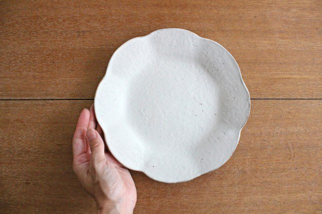 鉄散 輪花皿  中 陶器 古谷製陶所 画像6