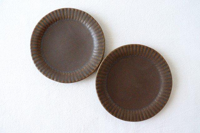 錆釉 ラッフルプレート S 陶器 古谷製陶所 画像2