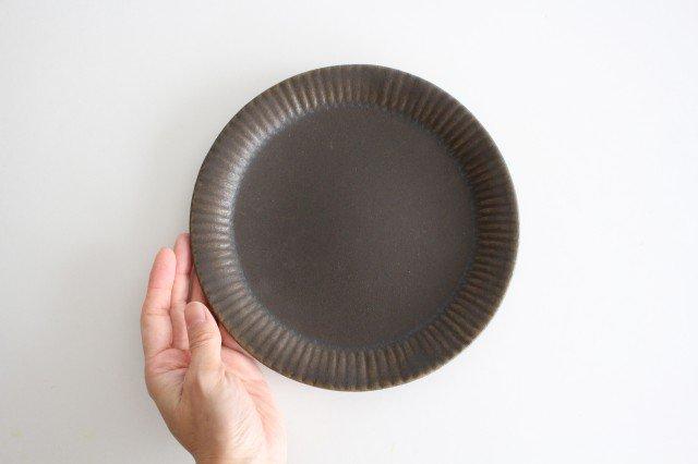 錆釉 ラッフルプレート M 陶器 古谷製陶所 画像4