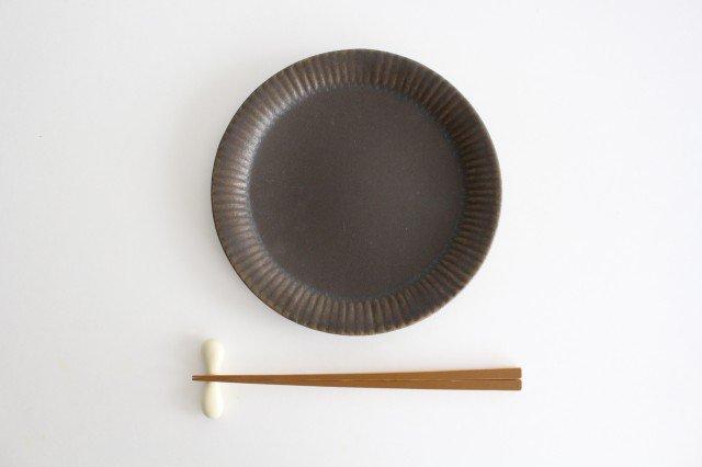 錆釉 ラッフルプレート M 陶器 古谷製陶所 画像5