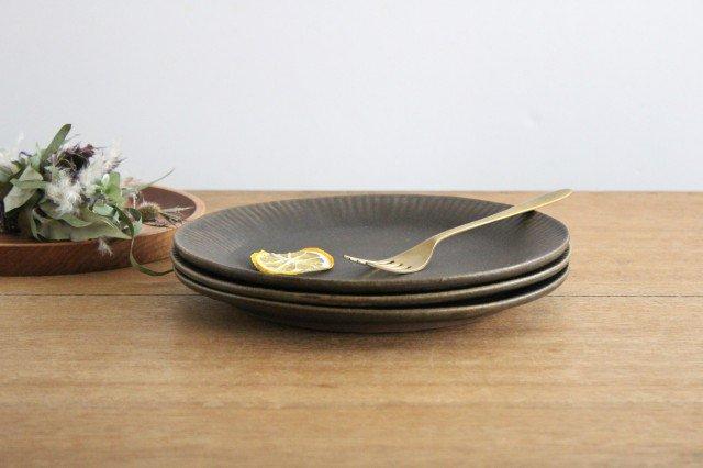 錆釉 ラッフルプレート L 陶器 古谷製陶所 画像2