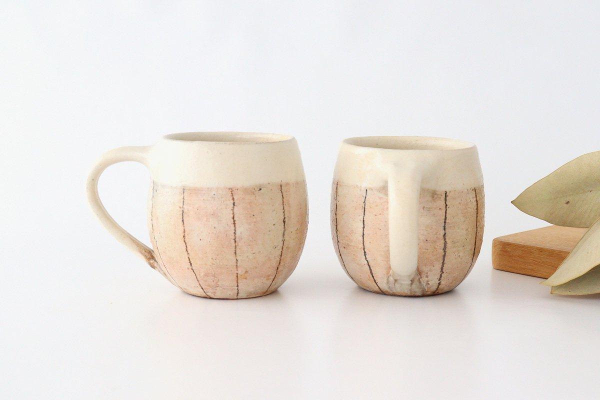 たて鉄線 エッグマグ 陶器 古谷製陶所 画像2