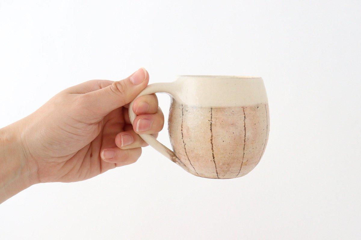 たて鉄線 エッグマグ 陶器 古谷製陶所 画像3
