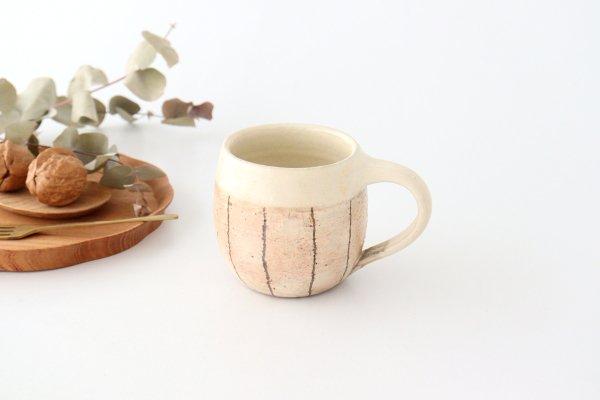 たて鉄線 エッグマグ 陶器 古谷製陶所商品画像
