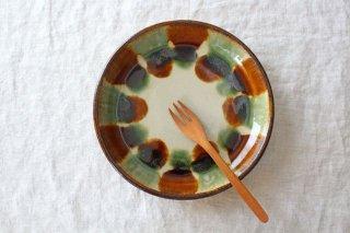 7寸皿 三彩 陶器 エドメ陶房商品画像