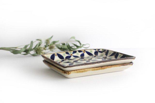 角皿 網花紋 陶器 エドメ陶房 やちむん 画像2