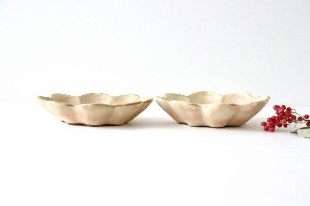 粉福花の小皿 陶器 木のね 画像2