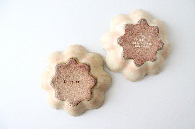 粉福花の小皿 陶器 木のね 画像5