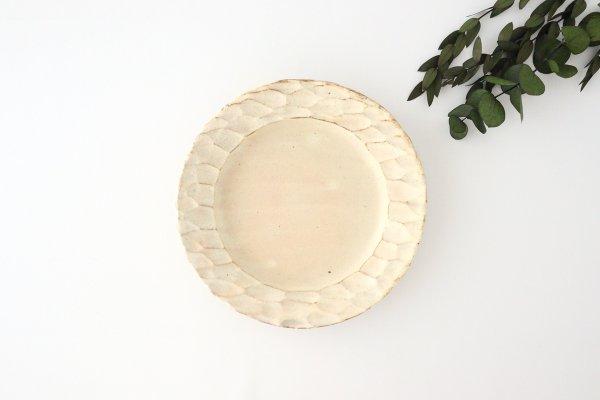 粉福 丸リム皿 S 陶器 木のね商品画像