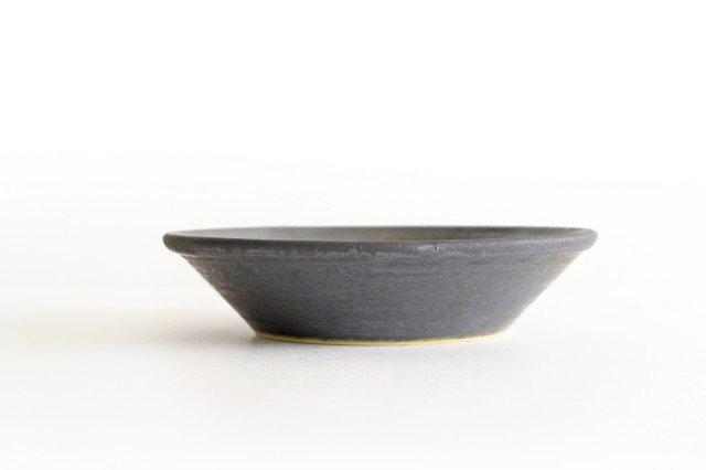 7寸鉢 鉄色 陶器 石井ハジメ 画像2