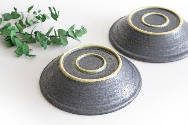 7寸鉢 鉄色 陶器 石井ハジメ 画像3