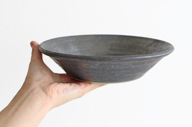 7寸鉢 鉄色 陶器 石井ハジメ 画像6
