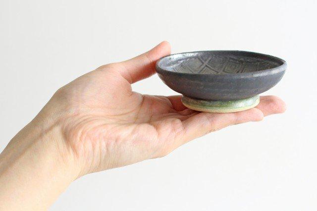 型打ち小鉢 鉄色 陶器 石井ハジメ 画像5