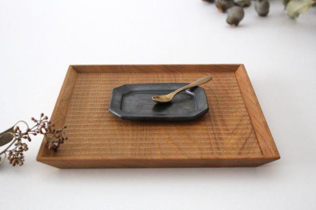 長八角皿 小 鉄色 陶器 石井ハジメ 画像2