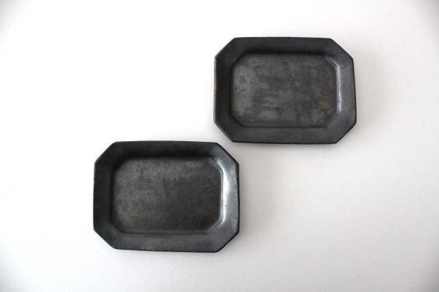 長八角皿 小 鉄色 陶器 石井ハジメ 画像4