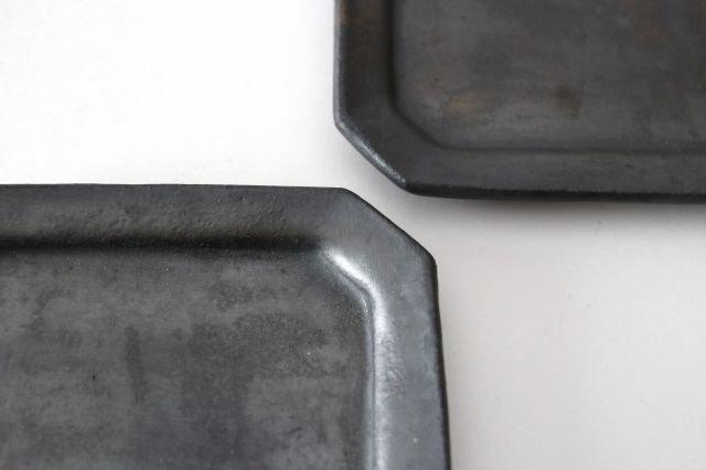 長八角皿 小 鉄色 陶器 石井ハジメ 画像5