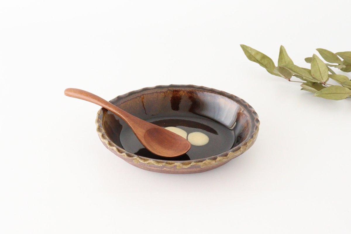 スリップウェア グラタン皿 丸三点 陶器 柳瀬俊一郎
