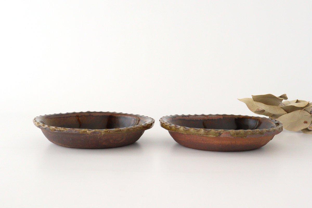 スリップウェア グラタン皿 丸三点 陶器 柳瀬俊一郎 画像2