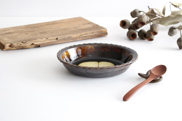 スリップウェア グラタン皿 丸三点 陶器 柳瀬俊一郎 画像4