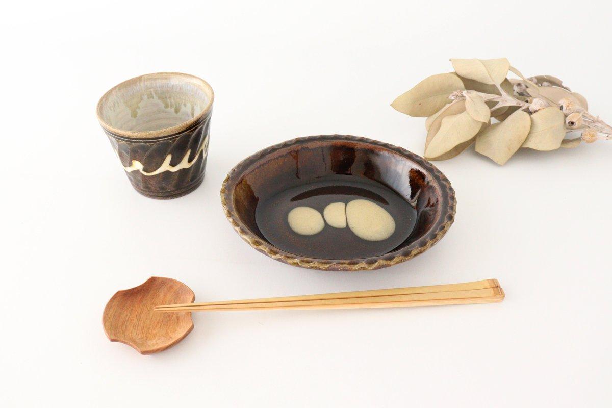 スリップウェア グラタン皿 丸三点 陶器 柳瀬俊一郎 画像5