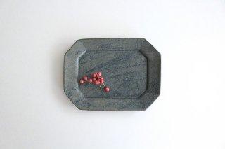 長八角皿 中 呉須 陶器 石井ハジメ商品画像