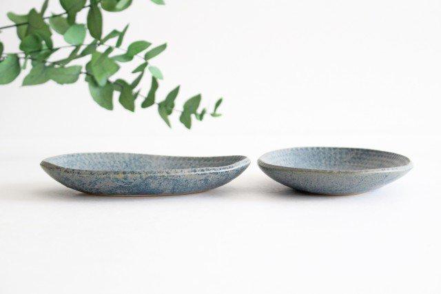 楕円小皿 呉須 陶器 石井ハジメ 画像2