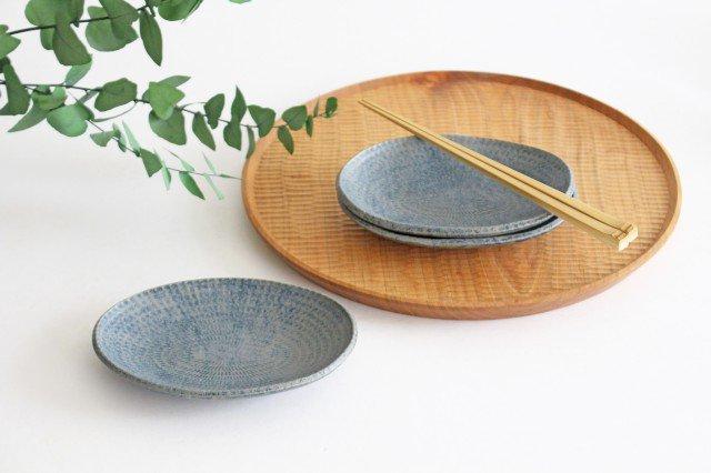 楕円小皿 呉須 陶器 石井ハジメ 画像6