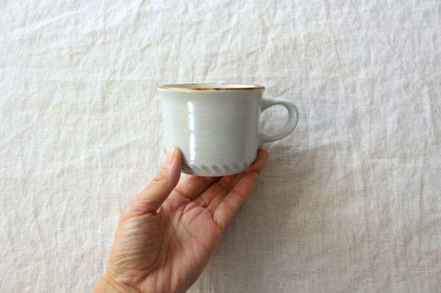 コーヒーカップ ミント 磁器 原村俊之 画像3