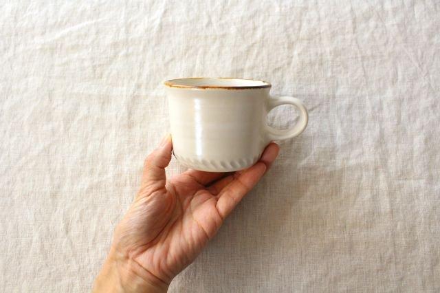 コーヒーカップ  ホワイト  磁器 原村俊之 画像2
