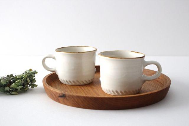 コーヒーカップ  ホワイト  磁器 原村俊之 画像4