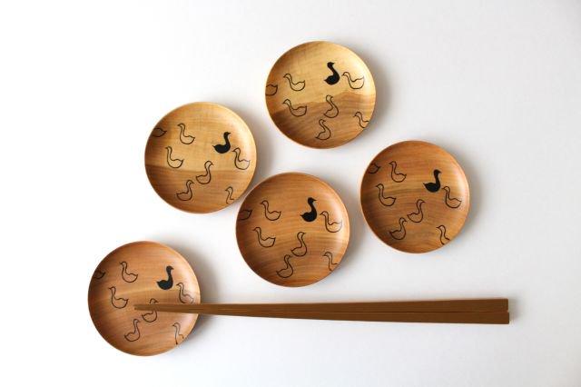 豆皿 アヒル さくら 白鷺木工 画像4