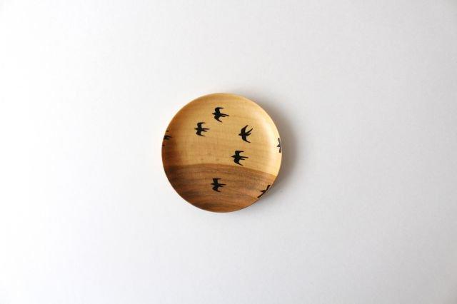 豆皿 ツバメ さくら 【A】 白鷺木工