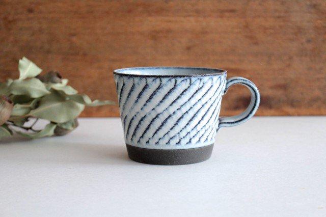 美濃焼 スパイラルマグ 【A】 ホワイト 陶器