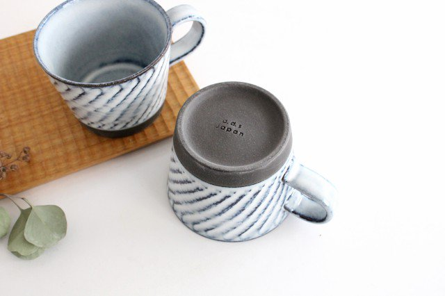 美濃焼 スパイラルマグ 【A】 ホワイト 陶器  画像2