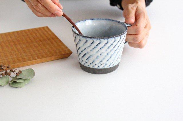 美濃焼 スパイラルマグ 【A】 ホワイト 陶器  画像4